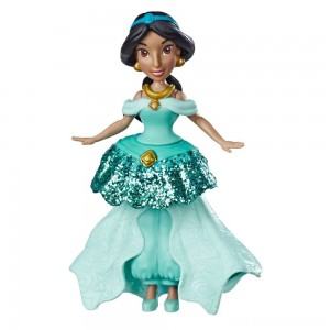 Disney Princess Jasmine Doll with Royal Clips Fashion, One-Clip Skirt Free Shipping