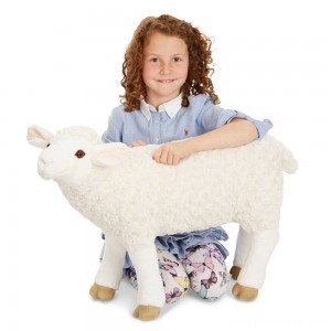 Melissa & Doug Giant Sheep - Lifelike Stuffed Animal (nearly 2 feet tall) Free Shipping