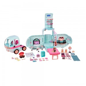 L.O.L. Surprise! 2-in-1 Glamper Fashion Camper with 55+ Surprises Free Shipping
