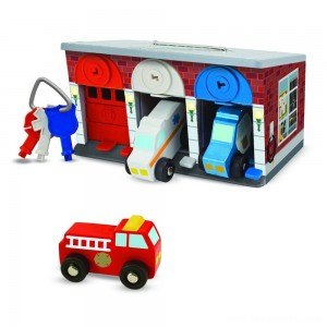 Melissa & Doug Keys & Cars Rescue Garage Free Shipping