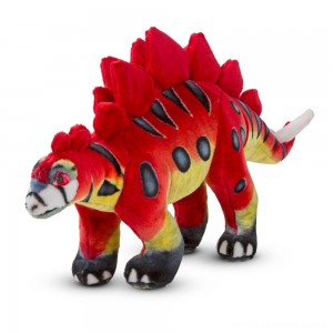 Melissa & Doug Giant Stegosaurus Dinosaur - Lifelike Stuffed Animal Free Shipping