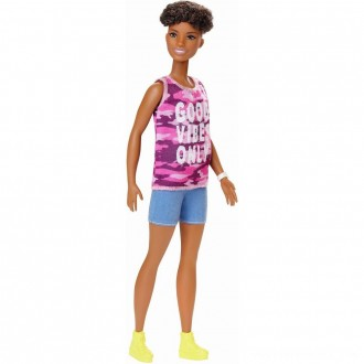 Barbie Fashionistas Doll #128 Good Vibes Only Free Shipping