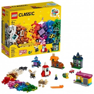 LEGO Classic Windows of Creativity 11004 Building Kit with Toy Doors for Creative Play 450pc Free Shipping
