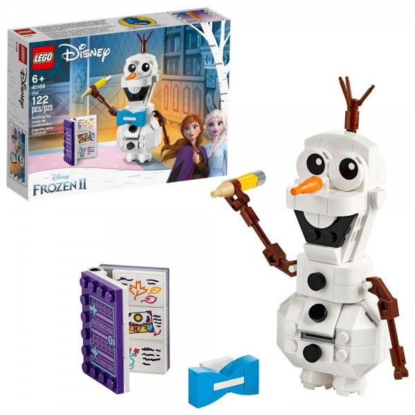 LEGO Disney Frozen 2 Olaf 41169 Olaf Snowman Toy Figure Building Kit 122pc Free Shipping