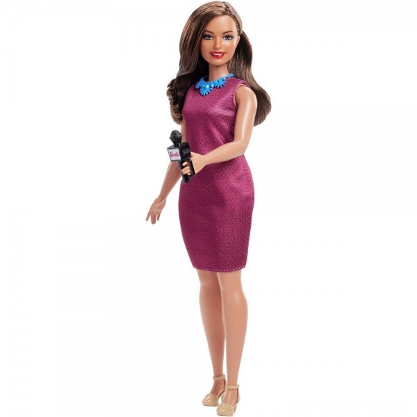 Barbie Careers 60th Anniversary News Anchor Doll Free Shipping
