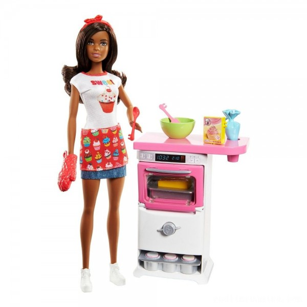 Barbie Bakery Chef Nikki Doll and Playset Free Shipping