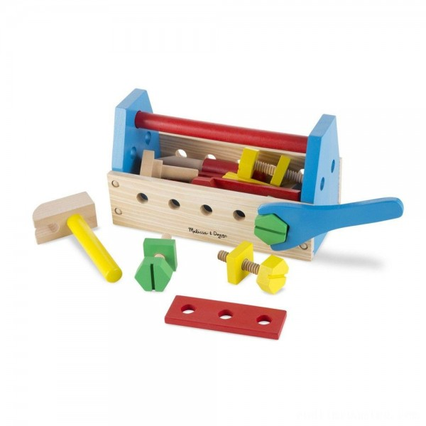 Melissa & Doug Take-Along Tool Kit Wooden Construction Toy (24pc) Free Shipping