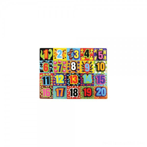 Melissa & Doug Jumbo Numbers Wooden Chunky Puzzle (20pc) Free Shipping