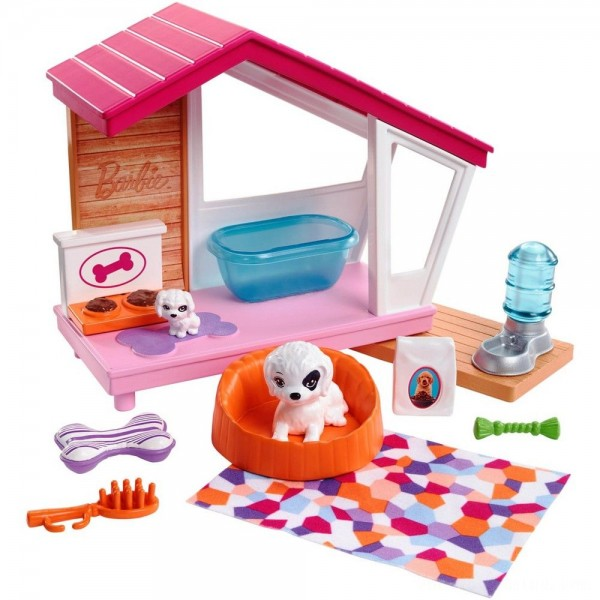 Barbie Dog House Playset, doll accessories Free Shipping