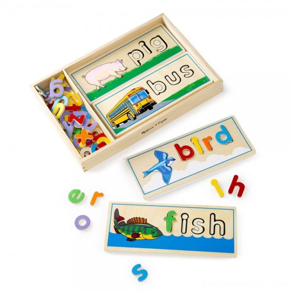 Melissa & Doug See & Spell Wooden Educational Toy With 8 Double-Sided Spelling Boards and 64 Letters Free Shipping