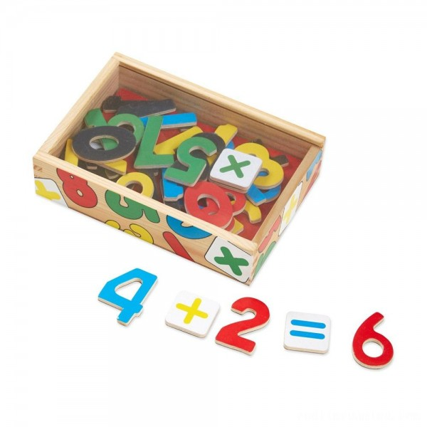Melissa & Doug 37 Wooden Number Magnets in a Box Free Shipping